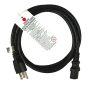 6 Foot 16 Gauge IEC Power Cable